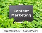 """content marketing"" word...   Shutterstock . vector #562089934"