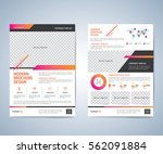 business brochure flyer design... | Shutterstock .eps vector #562091884