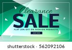 clearance sale banner with... | Shutterstock .eps vector #562092106