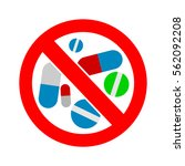 no pills. no drug. no medical... | Shutterstock .eps vector #562092208