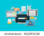 digital content and internet... | Shutterstock .eps vector #562093138