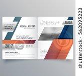 abstract modern bifold brochure ... | Shutterstock .eps vector #562095223