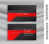 red and black modern business... | Shutterstock .eps vector #562095640