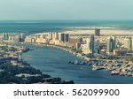 aerial view of old dubai  the... | Shutterstock . vector #562099900