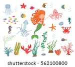 underwater life collection....   Shutterstock .eps vector #562100800