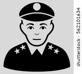 army general vector icon. flat... | Shutterstock .eps vector #562101634
