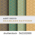 art deco seamless pattern with... | Shutterstock .eps vector #562102000