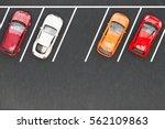 top view of parking lane | Shutterstock . vector #562109863