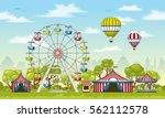 illustration of an amusement... | Shutterstock .eps vector #562112578
