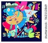vector illustration hipster... | Shutterstock .eps vector #562112869