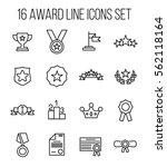 set of award in modern thin...   Shutterstock .eps vector #562118164