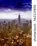 skyline manhattan  nyc. | Shutterstock . vector #562119850