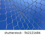 soccer net over blue sky         | Shutterstock . vector #562121686