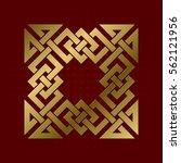 sacred geometric symbol of... | Shutterstock .eps vector #562121956