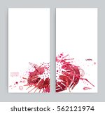 two banners with abstract... | Shutterstock .eps vector #562121974