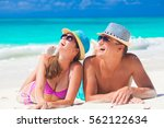 couple enjoying their time... | Shutterstock . vector #562122634