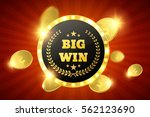big win retro banner with... | Shutterstock .eps vector #562123690