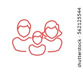 family icon flat. | Shutterstock .eps vector #562125544