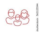 family icon flat. | Shutterstock .eps vector #562125544