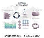 infographic elements set... | Shutterstock .eps vector #562126180