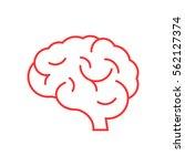 brain icon flat. | Shutterstock .eps vector #562127374