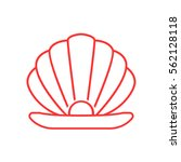pearl icon flat. | Shutterstock .eps vector #562128118
