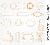 gold art deco vector frames set | Shutterstock .eps vector #562133806
