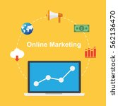 online marketing. business and...   Shutterstock .eps vector #562136470