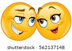 loving emoticons couple | Shutterstock .eps vector #562137148