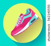 fitness sneakers shoes for... | Shutterstock .eps vector #562140550