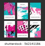 set of vertical artistic... | Shutterstock .eps vector #562141186