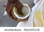 devotees preparing prayer... | Shutterstock . vector #562145110