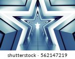 the path of a rising star. 3d... | Shutterstock . vector #562147219
