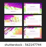 set of horizontal artistic... | Shutterstock .eps vector #562147744