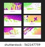 set of horizontal artistic... | Shutterstock .eps vector #562147759
