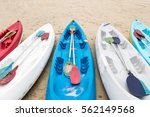 Colorful Kayak Boats On The...