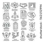 business management icons in... | Shutterstock . vector #562152994
