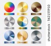 round cone metal gradients set. ... | Shutterstock .eps vector #562155910