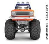 Bigfoot Truck. 3d Image....