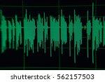 radio sound wave music wave blur | Shutterstock . vector #562157503