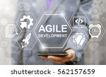 agile development software... | Shutterstock . vector #562157659