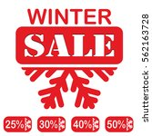 winter sale  red stamp  text... | Shutterstock .eps vector #562163728