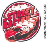 burnout car  japanese drift...   Shutterstock .eps vector #562165633