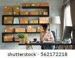 young entrepreneur  teenager... | Shutterstock . vector #562172218