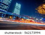 urban traffic road with... | Shutterstock . vector #562173994