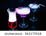 photo of a colored drink  with  ... | Shutterstock . vector #562175518