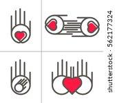 vector hands icon. heart in... | Shutterstock .eps vector #562177324