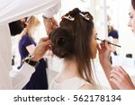 beauty salon  the girl dklayut... | Shutterstock . vector #562178134