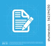 edit document icon   Shutterstock .eps vector #562194250