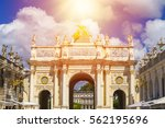 the gold arch here on the... | Shutterstock . vector #562195696